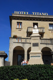 Garibaldi monument, Hotel Titano, San Marino