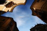 Circumzenithal arc over Sant'Ignazio Rome #3