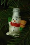 Snowman w/thimble hat