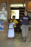 Piece Corp. volunteer with children