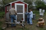 Checking club hives - April 28, 2007