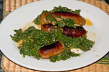 sausage and spinach sauteed with chili peppers