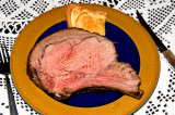 prime rib and slice of Yorkshire pudding