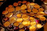 frying Indian eggplant