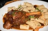 lamb shank casserole over rigatoni