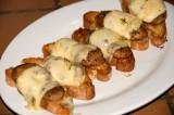 pom pom mushroom crostini