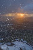 Sunset thru snowfall 05 Oct 07