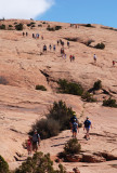 Foot traffic on the Delicate Arch Trail