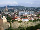 View from Narikala across towards Sameba Cathedral