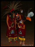 Aztec dancers with Virgen on their costume