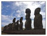 Ahu Tongariki  silhouette