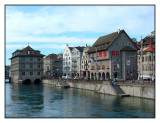 Limmatquai with the Rathaus, Zurich