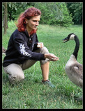 Anja feeding