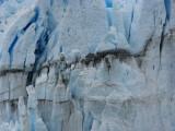 striations on face of Glaciar Perito Moreno