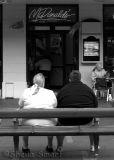 Couple outside McDonalds