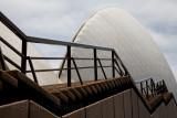 Sydney Opera House with rails