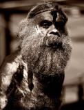 Aboriginal busker at Quay