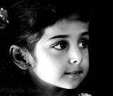 Little girl in monochrome