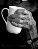 Hand with cup