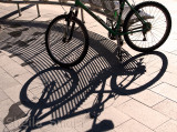 Bike shadow in Manly