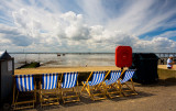 Southend with deckchairs and great sky