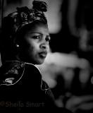 African woman at Montmartre, Paris