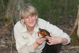 Julie with a Wood Turtle