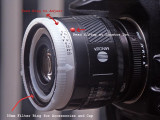 A Modified Lenscap is Used to Provide Aperture Control for a Reversed Maxxum AF Lens