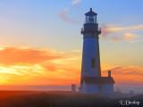 Yaquina Lighthouse, Evening