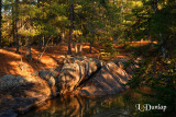 Amnicon River Rocks & Reflection, Evening Light