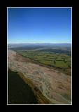 Rakaia River Canterbury from the Air.