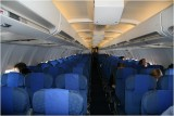 Half empty...Qantas Flight to CHCH