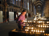 Me Lighting a Candle Inside Strasbourg Cathedral (4/13)