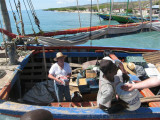 now, unload the boat