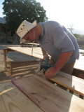 cutting the corners off the benches