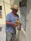 Bill still spraying paint