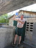 rinse off after an ocean bath