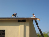 Scotty and Kevin working on the roof again