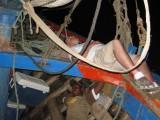 asleep on the boat
