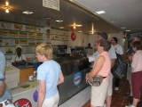 ordering at the restaurant at the Baptist Mission