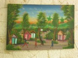 a Hatian panting that was in the work and witness building house