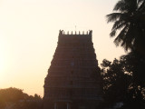RAJAGOPURAM VIEW AT THE SUNSET