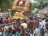 dEhaleesar (Aayanar) on Thanga Pallaku - School children getting Blessings