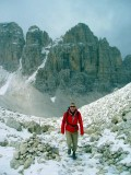 summer snow above the tridente
