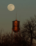 Moon &  Albany's Water Tower