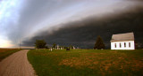 Shelf Cloud over the Old Brick Church