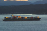 Cargo at Sunset in Puget Sound