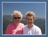 Deb & Mom at the Harbour