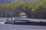 Mississippi River Ore Barge