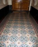 Hallway tile floor